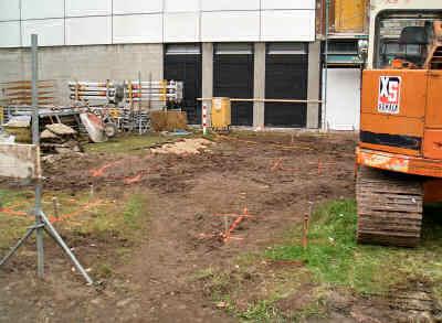 Absteckungsarbeiten für Fundamente