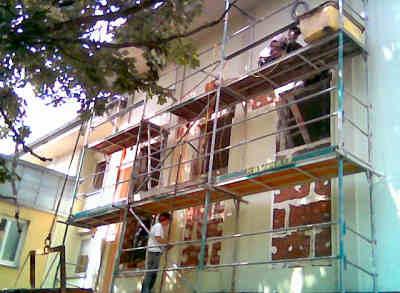 Vergrößerung von Fenstern im Voraum der Kapelle