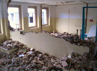 Entkernung der Innenräume