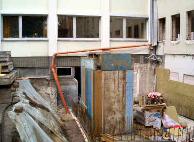 Kellergeschoss des Treppenhausanbaus