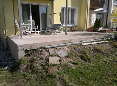 xaver schalk bau gmbh co kg erneuerung einer terrasse. Black Bedroom Furniture Sets. Home Design Ideas
