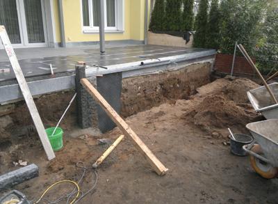 xaver schalk bau gmbh co kg erneuerung einer terrasse mit treppe xaver schalk bau gmbh. Black Bedroom Furniture Sets. Home Design Ideas